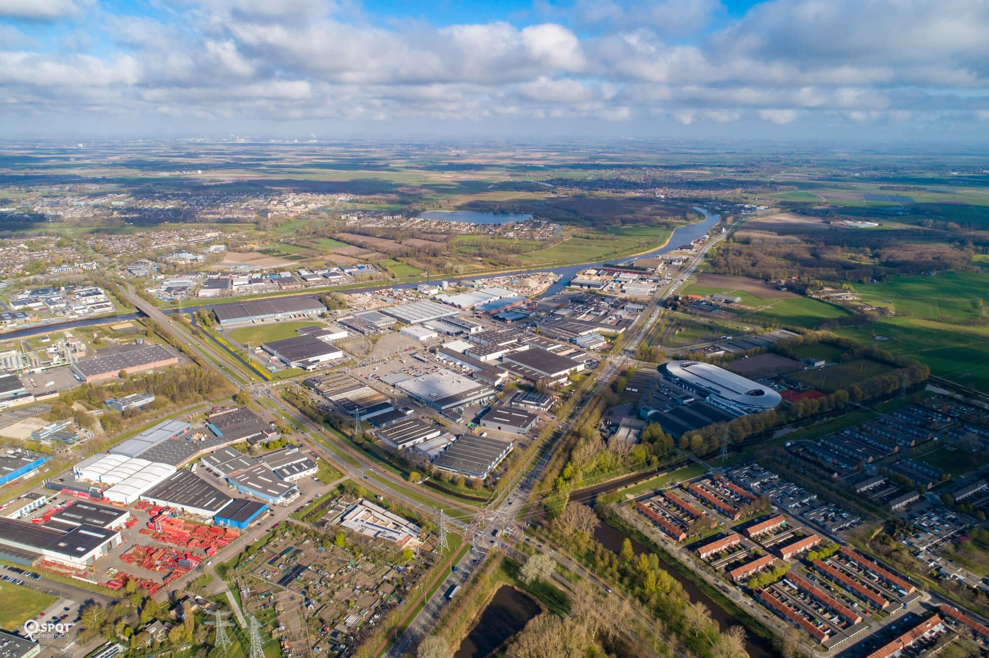 Overzichtsfoto bedrijventerrein De Krogten Breda